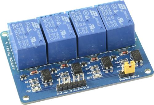 4duino Relais-Modul 4-fach mit Optokoppler