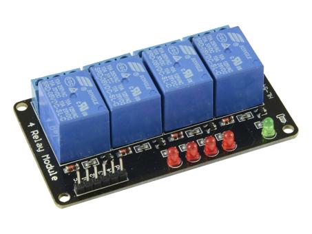 4duino Relais-Modul 4-fach 5 Volt ohne Optokoppler