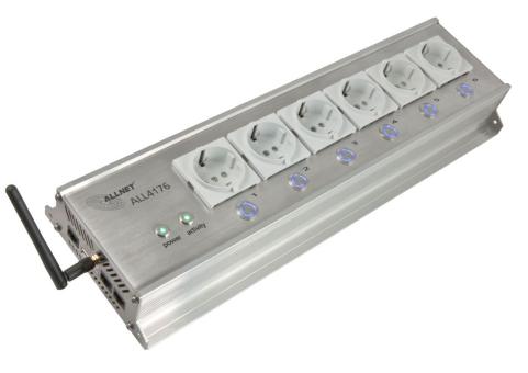 ALLNET IP-Steckdosenleiste 6-fach, schaltbar per Netzwerk (ALL4176)