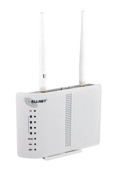 ALLNET Wireless N 300Mbit Breitband Router mit integriertem ADSL2+ - Modem (ALL02400N)